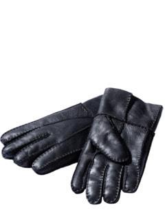 Manufaktur-Handschuhe schwarz Detail 1