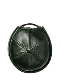 Miki Leather tiefgrün Detail 1