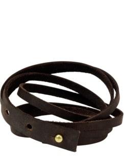 Büffelleder-Armband büffelbraun Detail 1