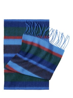 Atlantis-Schal Streifen blau Detail 1