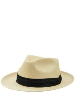 Panama-Brisa-Hut cremeweiß Detail 1