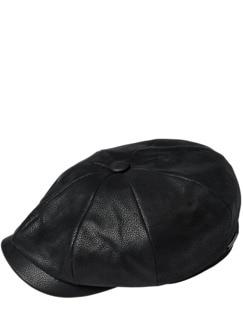 Stetson Lederschieber schwarz Detail 1