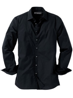 Future-Shirt Slim Fit schwarz Detail 1