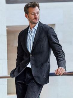 Nonkonformisten-Hemd Streifen blau/weiß Detail 2