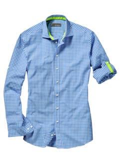 Neon-Krempelhemd Regular Fit