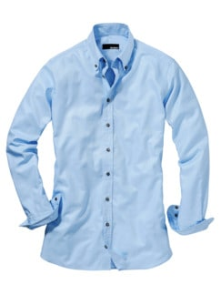 Oxford-Button-Down hellblau Detail 1