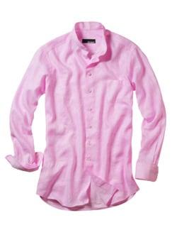 Zephir-Leinenhemd candy pink Detail 1