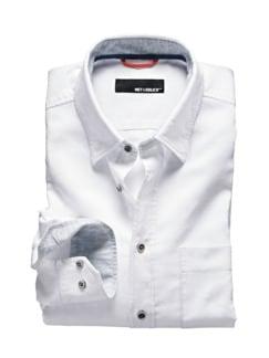 Leinen-Shirt weiß Detail 1