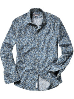 Liberty Hemd Huckleberry blau/grau Detail 1