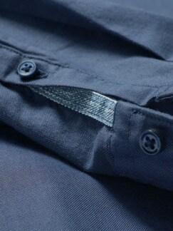 Blauschuss-Oxford-Hemd rauchblau Detail 4