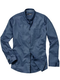 Blauschuss-Oxford-Hemd rauchblau Detail 1