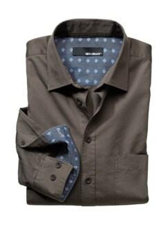 Luftgetrocknetes Hemd taupe Detail 1