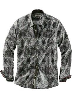 Luckys Hemd Enten auf grau Detail 1