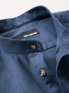 Zunfthemd dunkelblau Detail 4