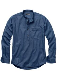 Zunfthemd dunkelblau Detail 1