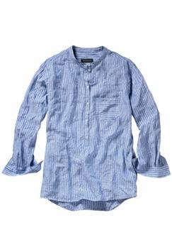 Fischerhemd Streifen blau/weiß Detail 1
