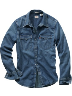 Barstow-Jeanshemd Western used denim Detail 1