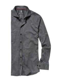 Desoto Hemd grau meliert Detail 1