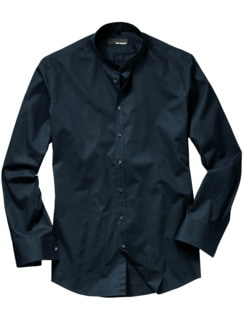 Piping-Hemd Slim Fit navy Detail 1