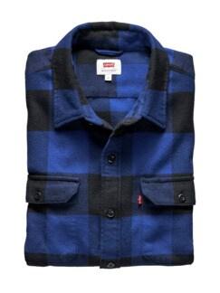 Jackson Worker Shirt sodalitblau Detail 1