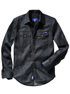 Blaumann Hemd tiefblau Detail 1