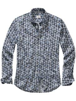 Sommerblüher-Hemd blau/weiß Detail 1