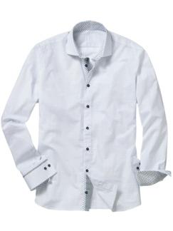 Wilmot Hemd weiß gemustert Detail 1