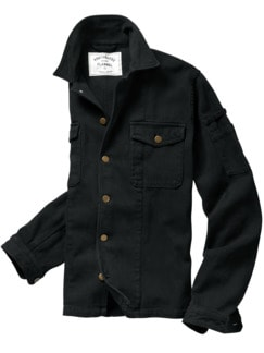 Denim Overjacket schwarz Detail 1