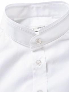 Piping-Hemd weiß Detail 4