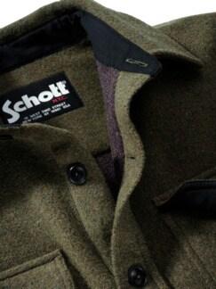 Schott Overshirt waldgrün Detail 4