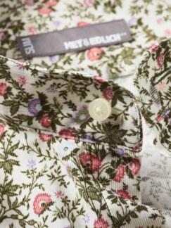 Liberty Hemd Mina Blumen mandelweiß Detail 4