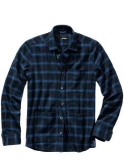 Drunter-und-Drüber-Hemd Karo blau Detail 1