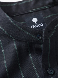 Padrino-Streifenhemd Streifen nachtblau Detail 2