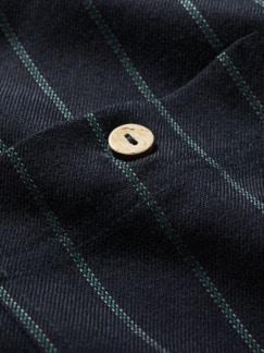 Padrino-Streifenhemd Streifen nachtblau Detail 4