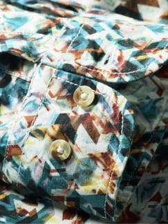 Kaleidoskop-Hemd Cispuky blau/braun Detail 3