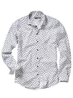 Gangnam-gu-Hemd Print weiß Detail 1