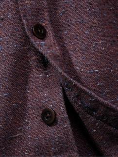 Rude-Hemd Tweed bordeaux Detail 4