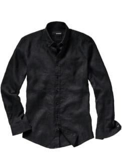 Riviera-Hemd schwarz Detail 1
