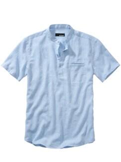 Urahnen-Hemd blau Detail 1