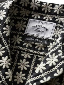 Hemd Traje a Vianesa schwarz/weiß Detail 4