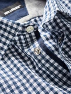 Joker-Hemd blau/weiß Detail 4