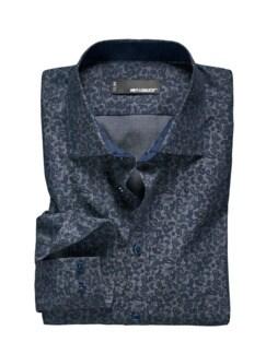 Paisley-Hemd jeansblau Detail 1