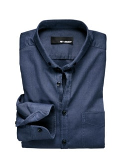 Oxfordhemd jeansblau Detail 1