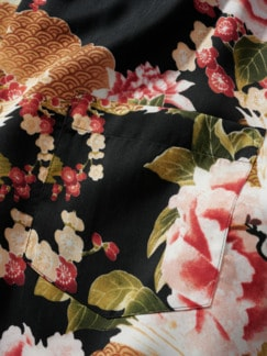 Handelsrouten-Hemd schwarz/kirschblüte Detail 4