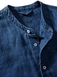 Leinenhemd Ethan indigo Detail 3