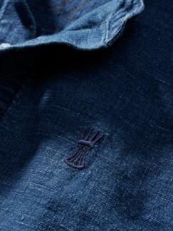 Leinenhemd Ethan indigo Detail 4