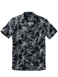 Korbmarante-Hemd tiefblau Detail 1