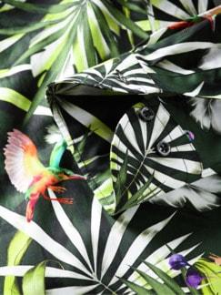 Trinidad-Tobago-Hemd schwarz/bunt Detail 4