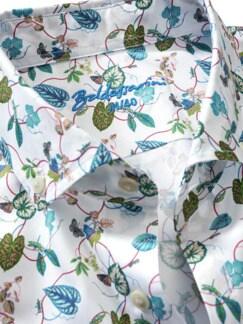 Naturtribut-Hemd Blätter weiß Detail 3