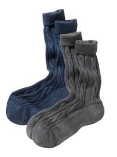 Wanderer-Socke im 2er-Pack jeansblau/asphalt Detail 1